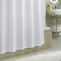 Excell Polyester Damask Stripe Shower Curtain Liner