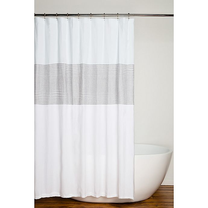 Alternate image 1 for Nora 72-Inch Square Shower Curtain in Grey