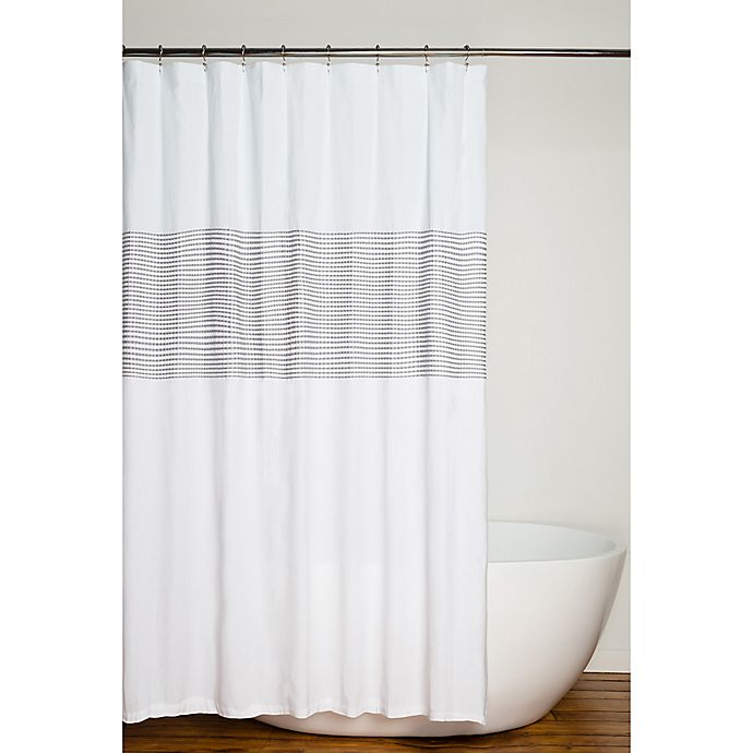 Alternate image 1 for Nora 96-Inch x 72-Inch Shower Curtain in Grey