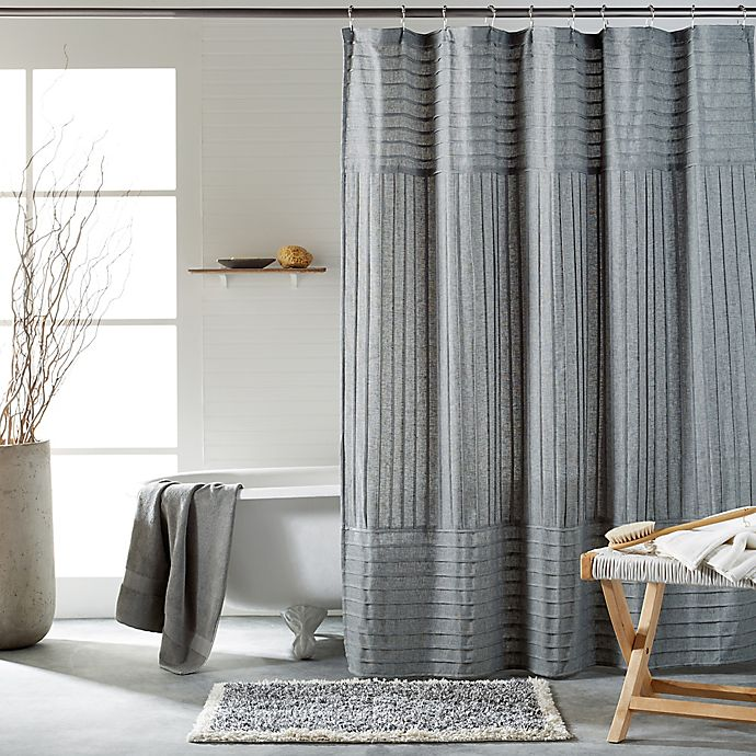 Alternate image 1 for DKNY Pure Pintuck Shower Curtain