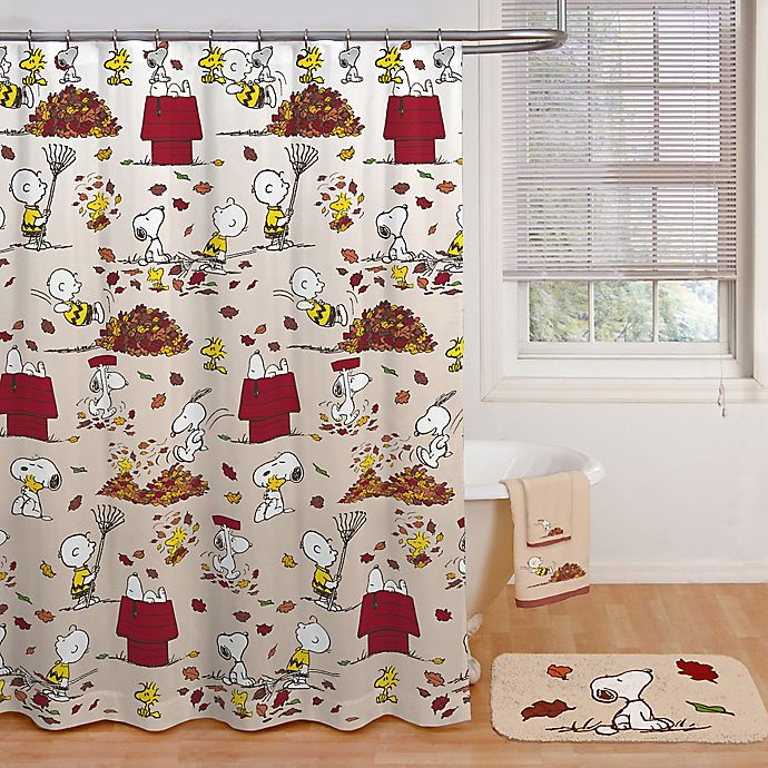 Peanuts Harvest Shower Curtain And