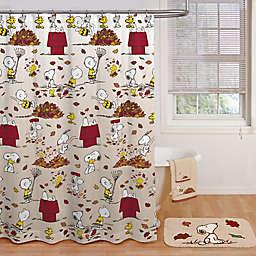 Peanuts™ Harvest Shower Curtain and Hook Set