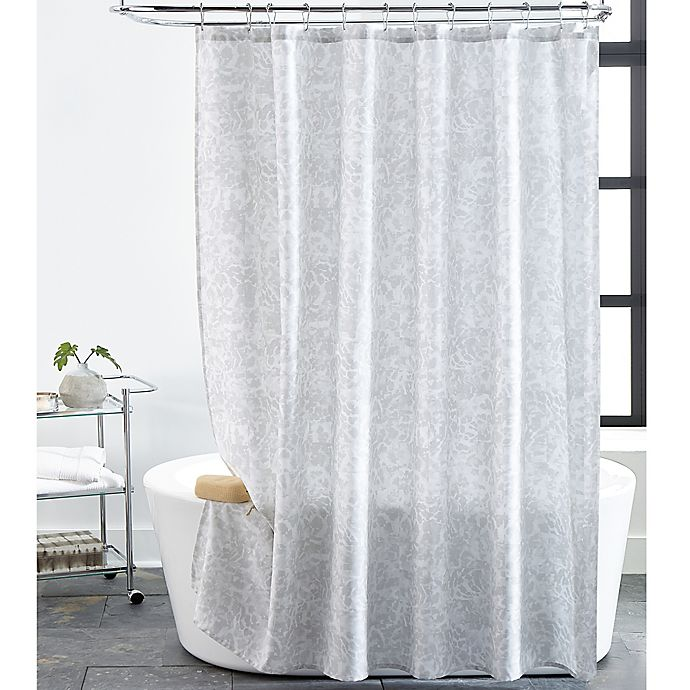 Alternate image 1 for Impressions 72-Inch x 72-Inch Shower Curtain in Light Grey