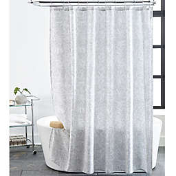 Impressions 72 Inch X Shower Curtain In Light Grey