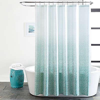 Ombré Dash 72-Inch x 72-Inch Shower Curtain in Aqua