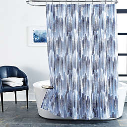 Brushstroke 72-Inch x 72-Inch Shower Curtain in Indigo