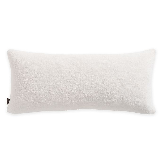 Ugg 174 Fuzzy Sherpa Plush Bolster Throw Pillow Bed Bath