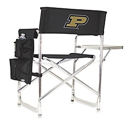 Picnic Time® Purdue University Collegiate Folding Sports Chair in Black