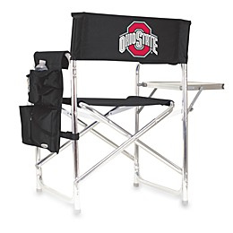 Picnic Time® Black Collegiate Folding Sports Chair - Ohio State