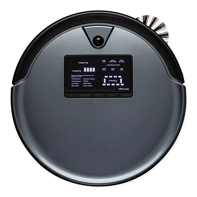 Alternate image 1 for bObsweep PetHair Plus Robotic Vacuum Cleaner and Mop in Charcoal