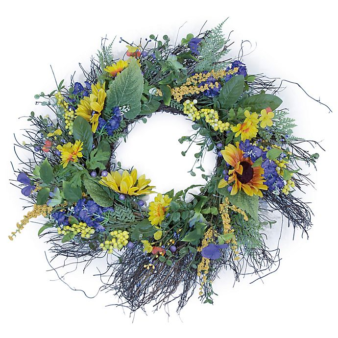 Alternate image 1 for Boston International 24-Inch Sunny Day Wreath