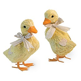 Boston International Duckling Figurines in Yellow (Set of 2)