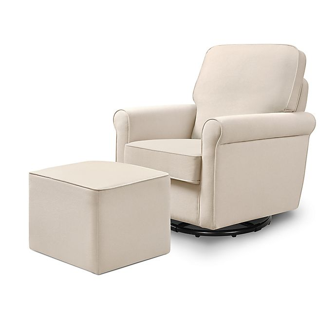 Alternate image 1 for DaVinci Maya Swivel Glider and Ottoman Set