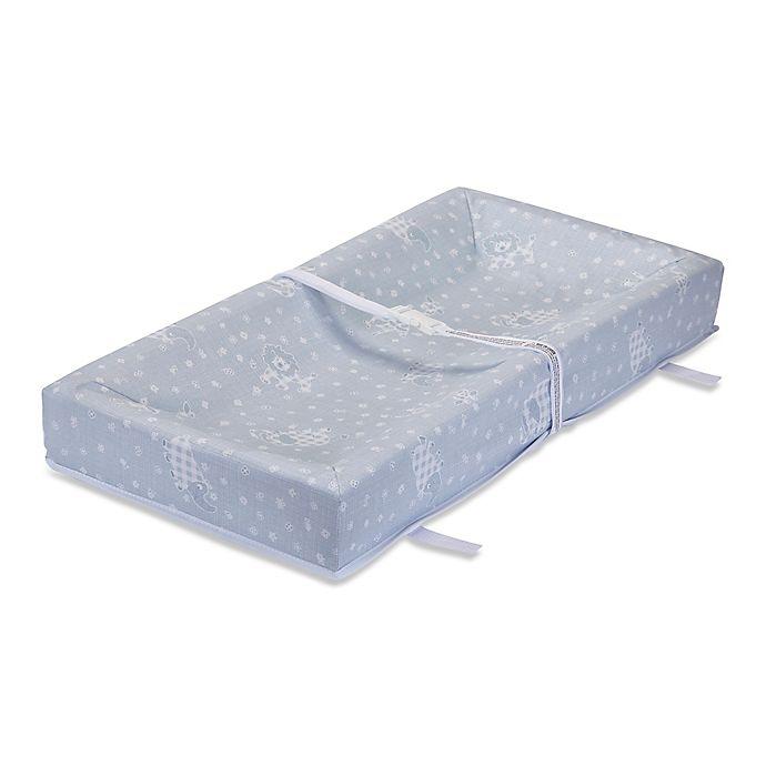 Alternate image 1 for LA Baby® Savannah 32-Inch Waterproof Changing Pad in Light Blue