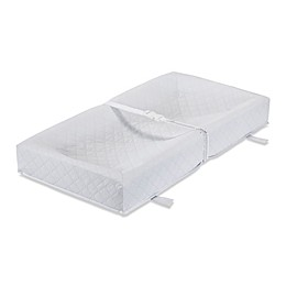 LA Baby® 32-Inch Waterproof 4 Sided Changing Pad and White Terry Cover