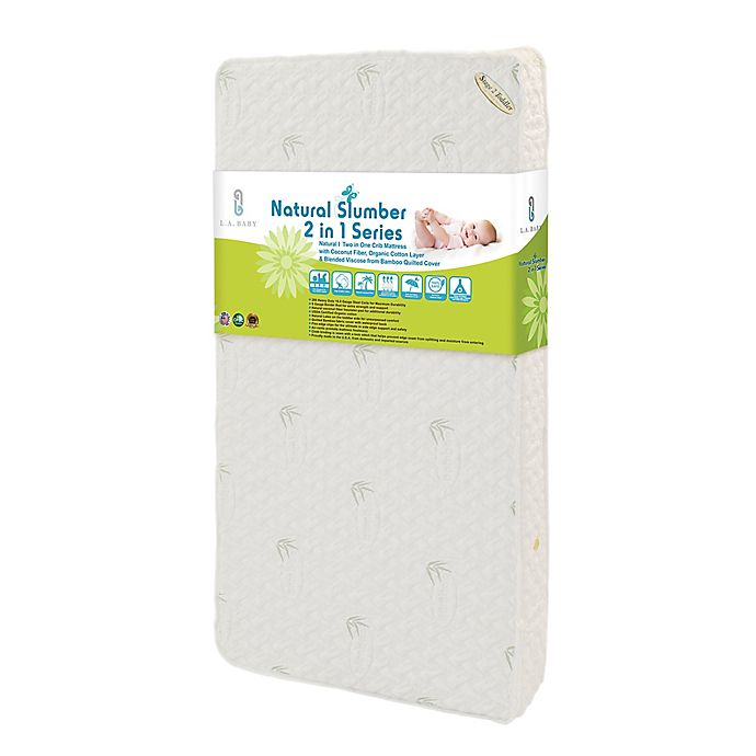 Alternate image 1 for L.A. Baby® Natural 2-In-1 Crib Mattress with Coconut Fiber