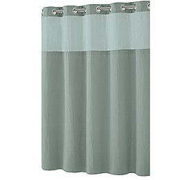Hookless® Waffle Fabric Shower Curtain