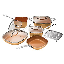 Gotham™ Steel Nonstick 10-Piece Square Copper Cookware Set