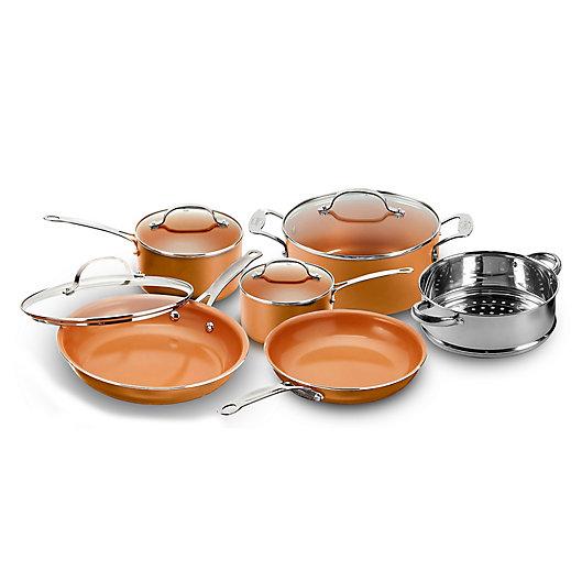 Alternate image 1 for Gotham™ Steel Nonstick 10-Piece Round Copper Cookware Set