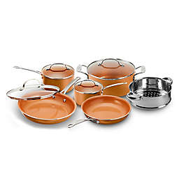Gotham™ Steel Nonstick 10-Piece Round Copper Cookware Set