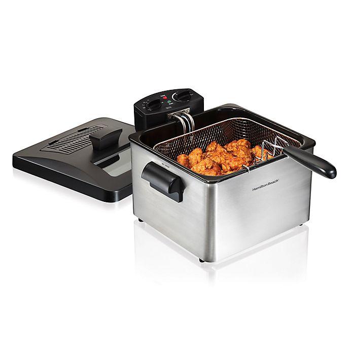 Alternate image 1 for Hamilton Beach® Professional Style Stainless Steel Deep Fryer