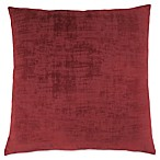 Monarch Specialties Brushed Velvet Square Decorative Pillow in Red