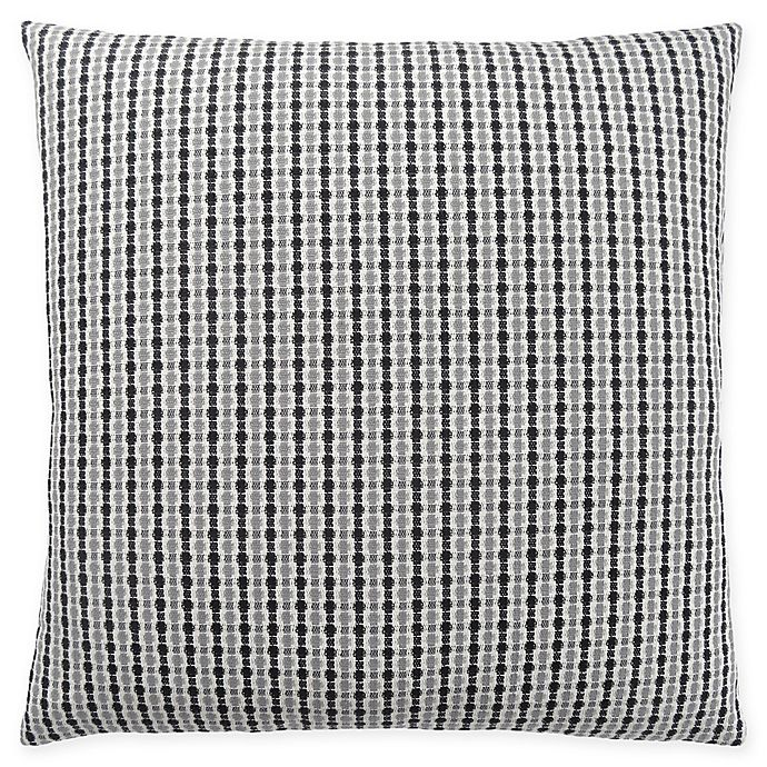 Alternate image 1 for Monarch Specialties Abstract Dot Square Decorative Pillow in Black and Light Grey