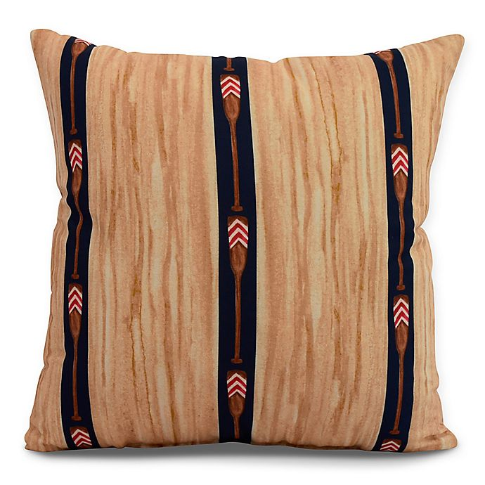 Alternate image 1 for E by Design Nantucket Oar Stripe Trio Square Throw Pillow in Navy