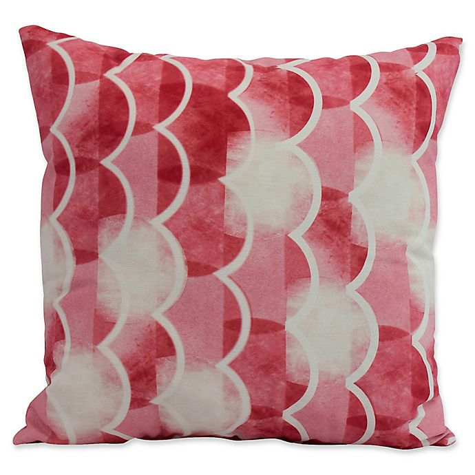 Alternate image 1 for E by Design Nantucket Zircoland Nautical Square Throw Pillow in Red
