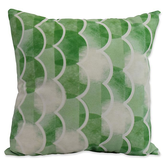 Alternate image 1 for E by Design Nantucket Zircoland Nautical Square Throw Pillow in Green
