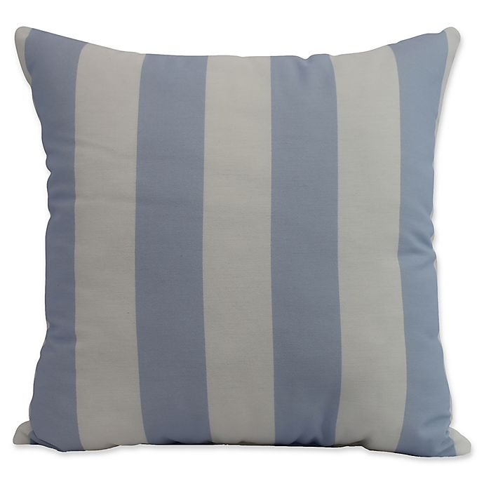 Alternate image 1 for E by Design Nantucket Rugby Stripe Square Throw Pillow in Blue