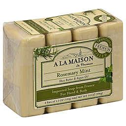 A La Maison de Provence 4-Pack Rosemary Mint Bar Soap for Hand & Body