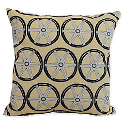 E by Design Nantucket Large Nautical Geomteric Square Throw Pillow