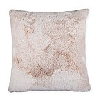 Tipped Fur 26-Inch Throw Pillow in Tan
