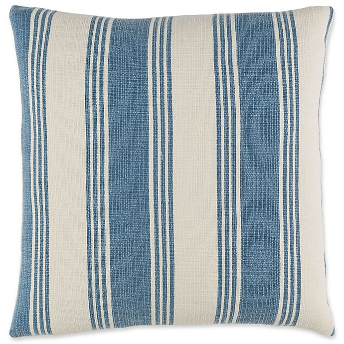 Alternate image 1 for Surya Anchor Bay Striped Square Throw Pillow in Navy/White