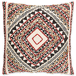 Surya Kazinga Bohemian Square Throw Pillow in Red/Tan