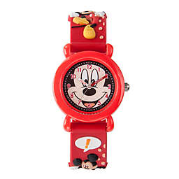 Disney® Mickey Mouse Children's 32mm Time Teacher Watch in Red