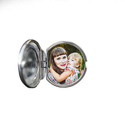 With You Lockets George Sterling Silver Photo Locket Cufflinks