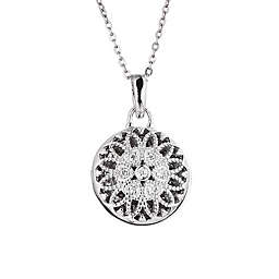 With You Lockets Laney Sterling Silver 0.7 cttw Diamond 18-Inch Chain Photo Locket Necklace