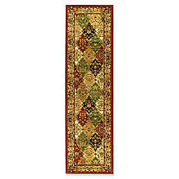 Safavieh Lyndhurst Diamond Patchwork 2-Foot 3-Inch x 16-Foot Runner in Red
