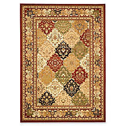 Safavieh Lyndhurst Diamond Patchwork 7-Foot 9-Inch x 10-Foot 9-Inch Rug in Red