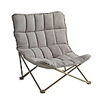 Quilted Oversized Lounger in Taupe