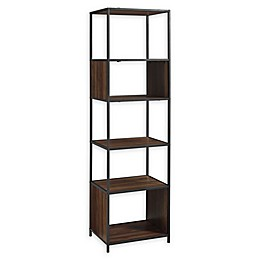 Forest Gate 70-Inch Metal and Wood Shelf Tower