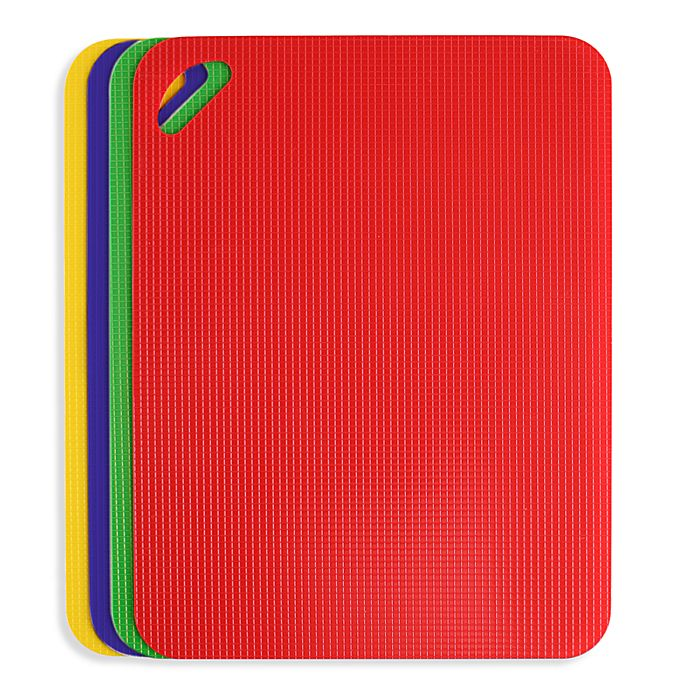 Alternate image 1 for Dexas® Flexible Heavy Duty Grippmat® Cutting Boards (Set of 4)