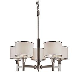 Bel Air Cadence 5-Light Chandelier in Brushed Nickel