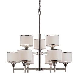 Bel Air Cadence 9-Light Chandelier in Brushed Nickel
