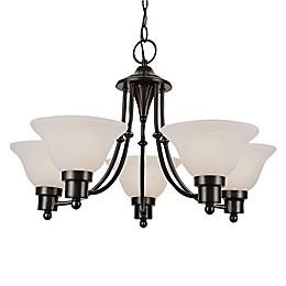 Bel Air Lighting Perkins 5-Light Transitional Chandelier in Weathered Bronze
