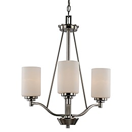 Bel Air Lighting Mod Pod 3-Light Modern Chandelier in Brushed Nickel