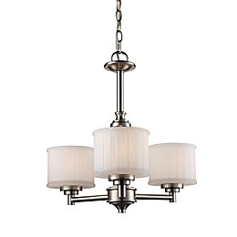 Bel Air Lighting Cahill 3-Light Transitional Chandelier in Brushed Nickel