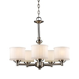 Bel Air Lighting Cahill 5-Light Transitional Chandelier in Brushed Nickel